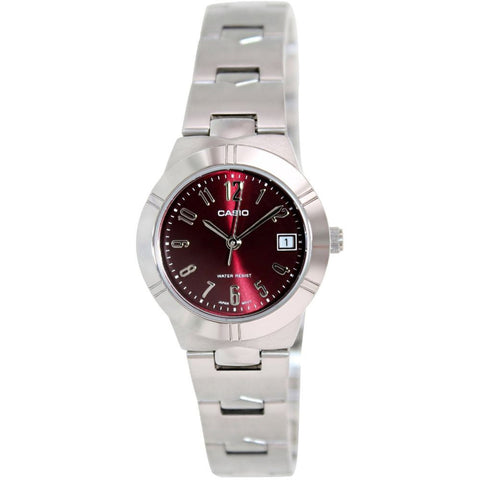 Casio LTP-1241D-4A2DF Women's General Ladies Analog Display Quartz Watch, Silver Stainless Steel Band, Round 25mm Case