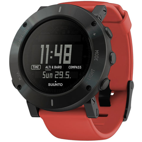Suunto SS020692000 Core Coral Crush Digital Display Quartz Watch, Coral Silicone Band, Round 49.1mm Case