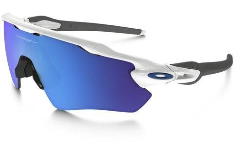 Oakley OO9208-17 Radar EV Path Men's Sunglasses, Polished White Frame, Sapphire Irridium Polarized 50mm Lenses