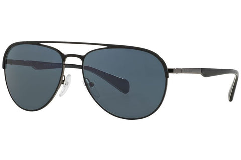 Prada PR51QS 1BO0A9 Sunglasses, Matte Black/Gunmetal Frame, Gray 59mm Lenses