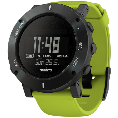Suunto SS020693000 Core Lime Crush Digital Display Quartz Watch, Lime Silicone Band, Round 49.1mm Case