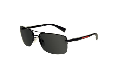 Prada 0PS 50NS 1BO1A1 Linea Rossa Sunglasses, Black Frame, Gray 62mm Lenses