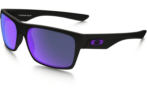 Oakley OO9189-08 TwoFace Sunglasses, Matte Black Frame, Violet Iridium 60mm Lenses