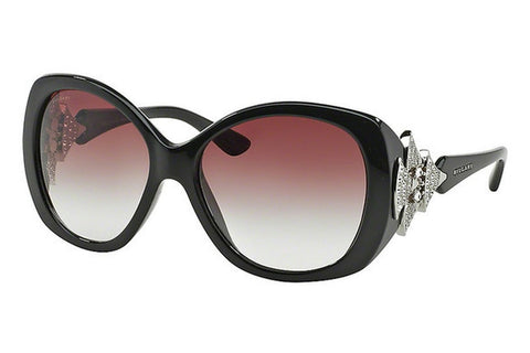 Bvlgari BV8126B 901/8H Butterfly Women's Sunglasses, Black Frame, Violet Gradient 58mm Lens
