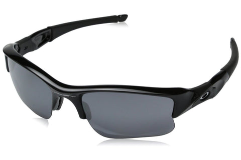 Oakley 03-915 Flak Jacket XLJ Sunglasses, Jet Black Frame, Black Iridium 63mm Lenses