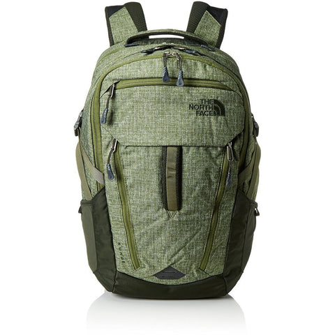 The North Face T0CLH0JZL Unisex Surge Backpack, Terrarium Green Heather/Rosin Green, One Size