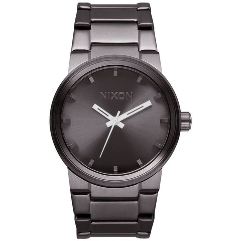 Nixon A160632 Men's Cannon All Gunmetal Analog Watch, Gunmetal Stainless Steel Band, Round 39.5mm Case