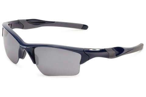 Oakley OO9154-24 Half Jacket 2.0 XL Sunglasses, Polished Navy Frame, Black Iridium 62mm Lenses