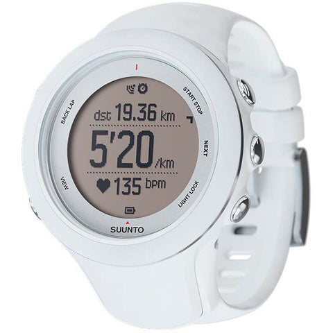 Suunto SS020683000 Ambit3 Sport White Digital Display Quartz Watch, White Silicone Band, Round 50mm Case
