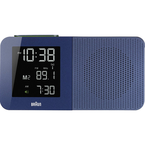 Braun BNC010BL-RC Digital Display Quartz Alarm Clock, Rectangle 180mm Case, Blue