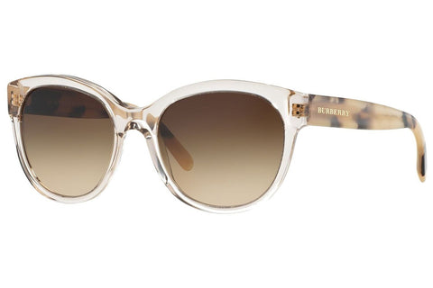 Burberry BE4187 350313 Oversized Women's Sunglasses, Clear Frame, Brown Gradient 54mm Lens