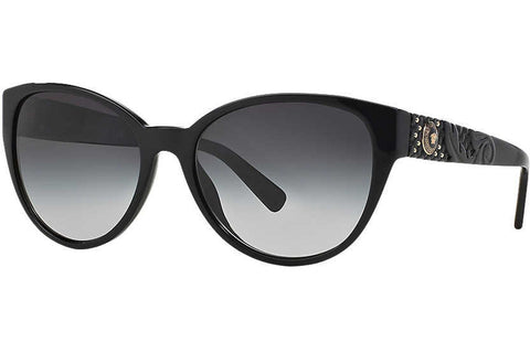 Versace VE4272 GB1/8G Sunglasses, Black Frame, Gray Gradient 58mm Lenses