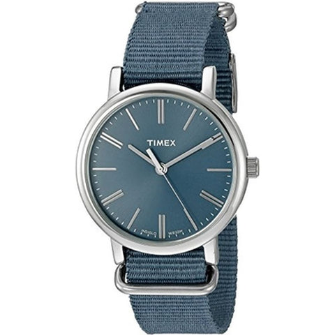 Timex TW2P88700ZA Originals Tonal Analog Display Quartz Women's Watch, Blue Nylon Band, Round 38mm Case