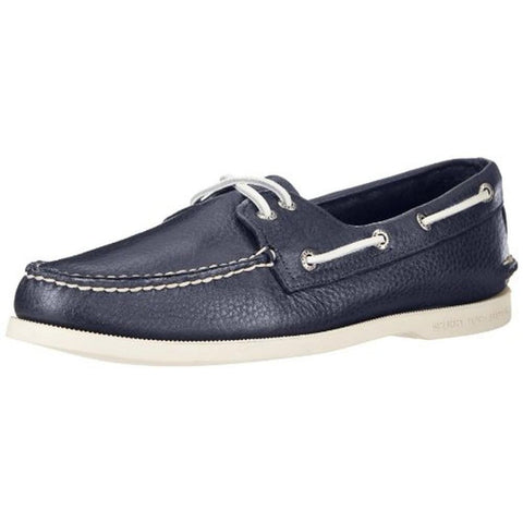 Sperry Top-Sider 0191312 Men's Authentic 2-Eye Boat Shoe, Navy, Size 9.5 D(M) US