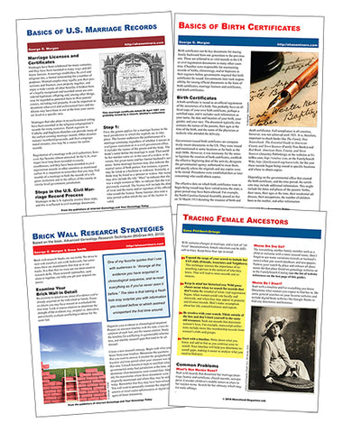 Quick Sheet Bundle - $17.50 for PDF Version & $25 for Print Version