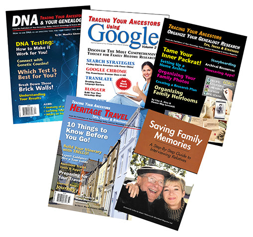 Genealogy Book Bundle Special 2 - $20 for PDF & $40 for Print Edition