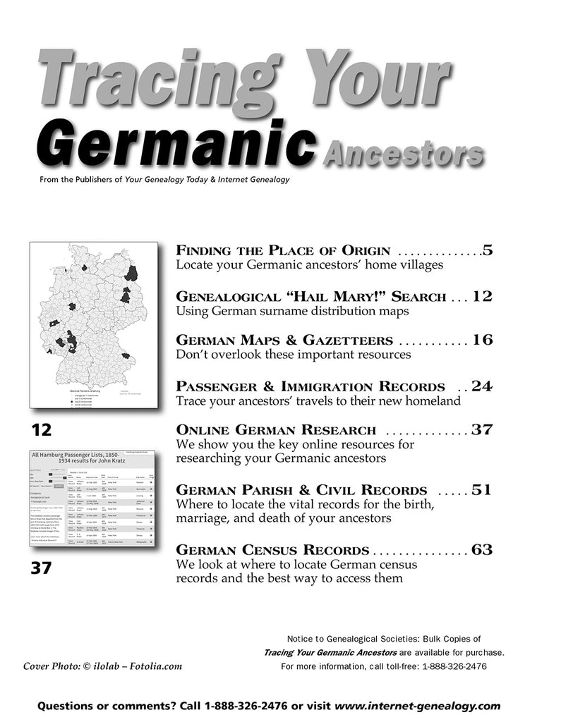 Tracing Your Germanic Ancestors - $8 50 for PDF & $9 95 for Print Edition