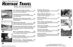 Heritage Travel - $8.50 for PDF & $9.95 for Print Edition