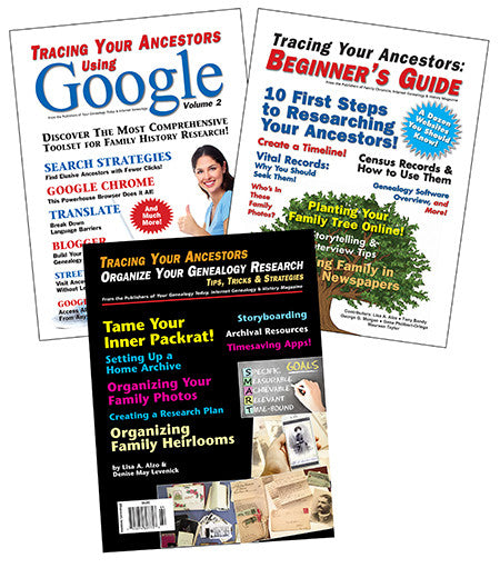 Genealogy Book Bundle Special 4 - $16 for PDF & $27 for Print Edition