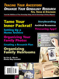Organize Your Genealogy Research - Available in Print and PDF Format