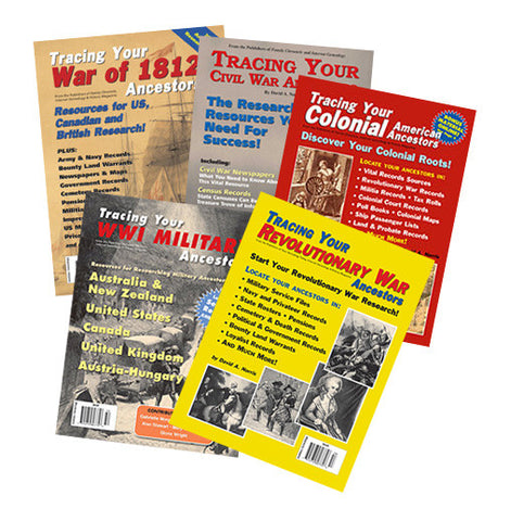 Genealogy Book Bundle Special 1 - $26 for PDF & $40 for Print Edition