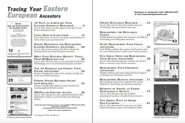 Tracing Your Eastern European Ancestors - Only Available in PDF Format