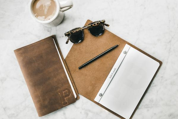 Bull & Stash X Portland Gear leather notebook