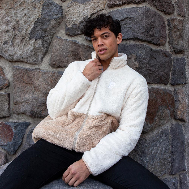 Two Tone Sherpa Lounger