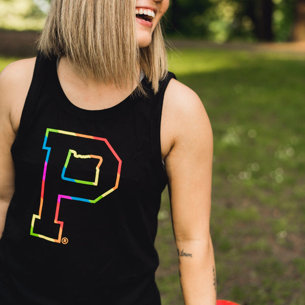Women's Outline Logo Pride Tank