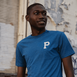 Heather Blue Logo Tee - Portland Gear