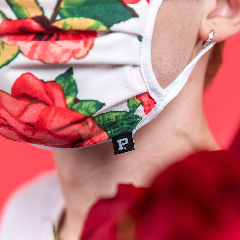 White Rose Face Mask - Made in PDX