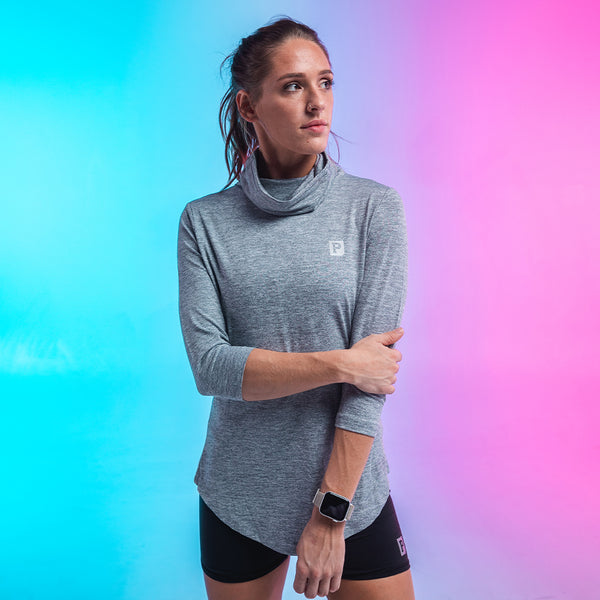 Women's Performance Gaiter Long Sleeve - Grey