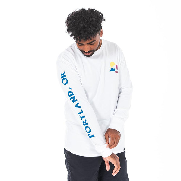 White Trifecta Long Sleeve - Portland Gear