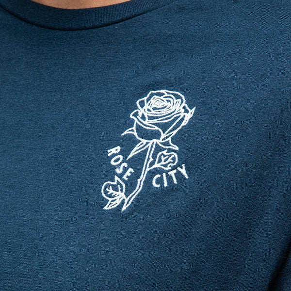 Women's Embroidered Rose Long Sleeve