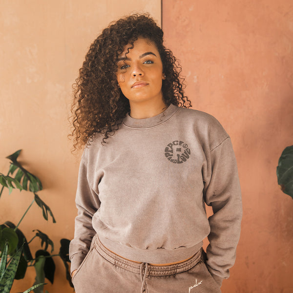 Women's Peace and Love Tonal Crewneck