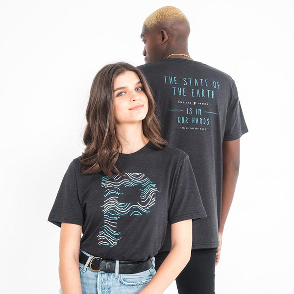 Wavy Sustainable Tee - Portland Gear