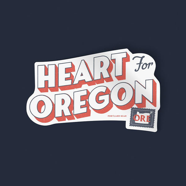 Heart for Oregon Sticker