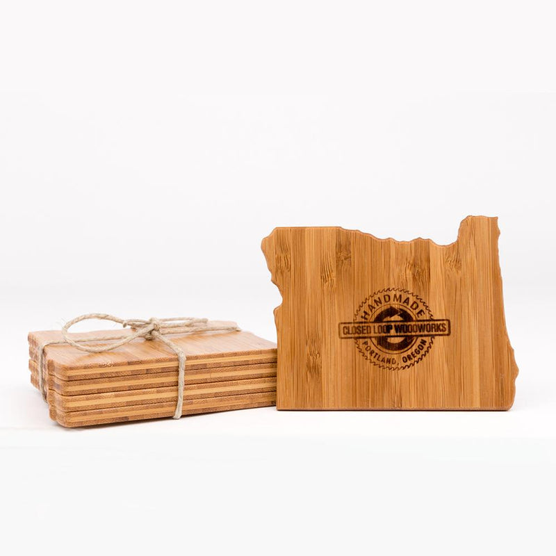Closed Loop Woodworks - Coasters - Portland Gear