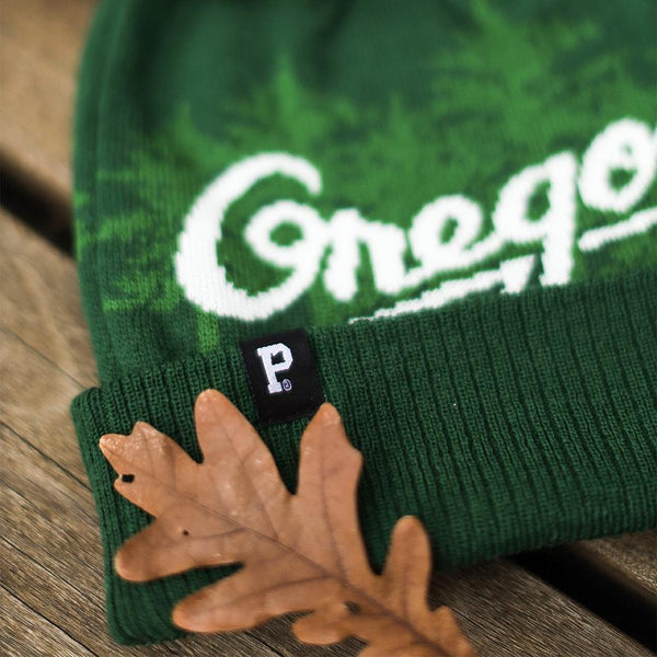 Green Oregon Pom Beanie