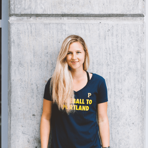Women's Baseball To Portland Tee - Portland Gear