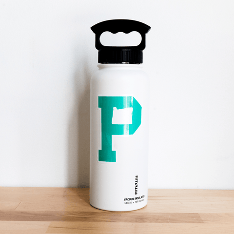 Teal P Sticker - Portland Gear