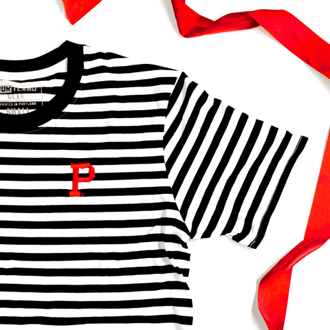 Holiday Stripe Tee - Portland Gear