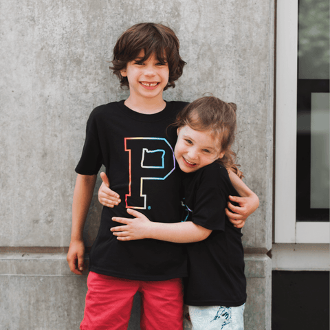 "Youth Pride Outline ""P"" Tee - Portland Gear"