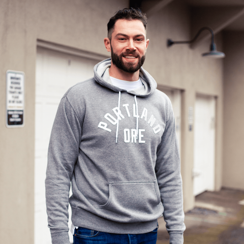 Athletic Grey Prep Hoodie - Portland Gear