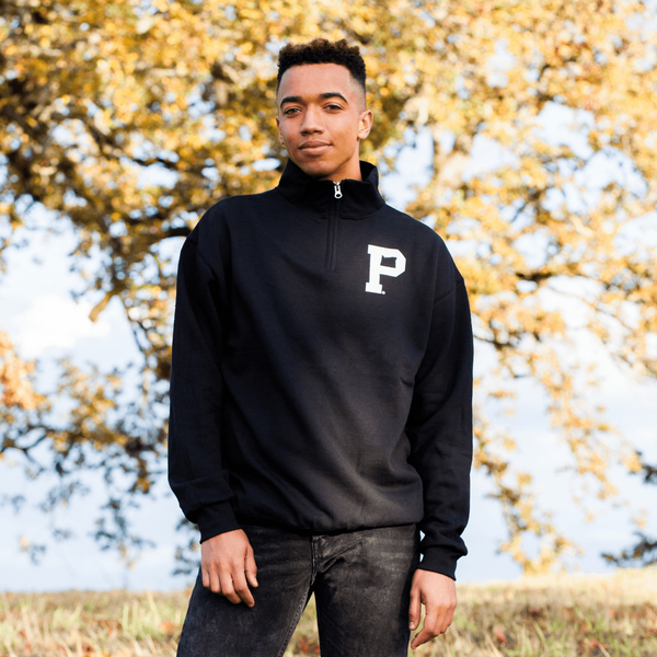 Black Quarter Zip - Portland Gear
