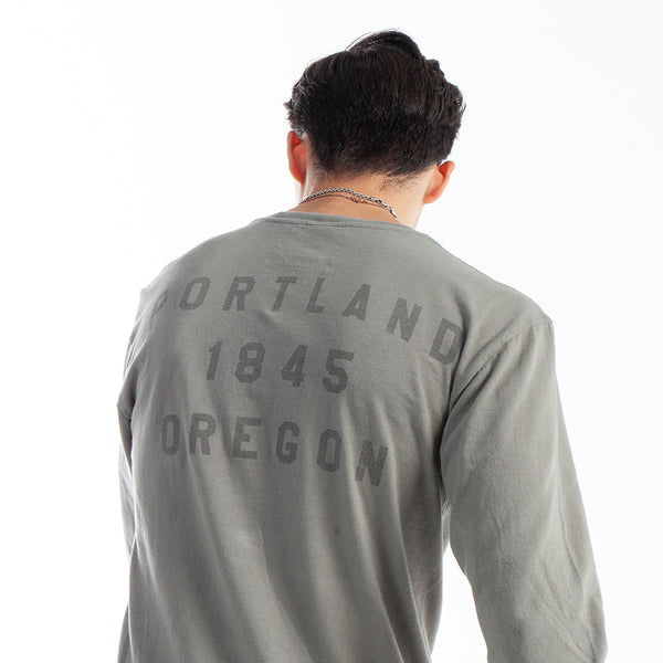 "Pewter ""P"" Long Sleeve"