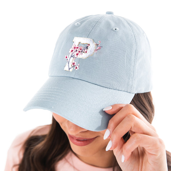 Blue Cherry Blossom Dad Hat