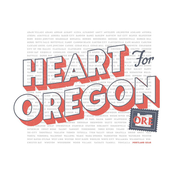 Heart For Oregon Charity Tee *Pre-Order*