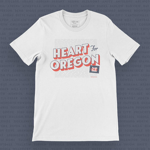 Heart For Oregon Charity Tee *Pre-Order* - Portland Gear
