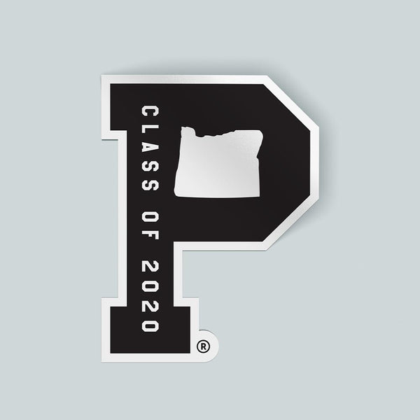 "Class of 2020 ""P"" Sticker - Portland Gear"